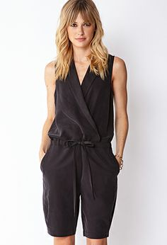 Menswear Inspired Romper | FOREVER 21 - 2000090156