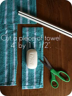 WhiMSy love: DIY: Soap Pouch...fold top down 3.5 inches and then other side 4.5 inches after turning short ends under .5 and .5