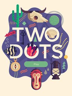Two Dots App Title designed by Folio Illustration Agency. Connect with them on Dribbble; Illustration Agency, Creative Illustration, Graphic Design Illustration, Digital Illustration, Heart Illustration, Illustration Styles, Web Design, Game Design, Flat Design