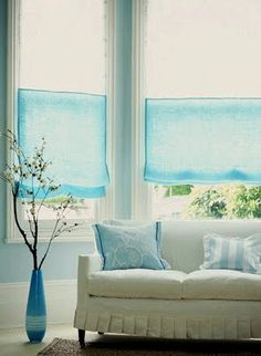 What pretty blue against crisp white-beauty