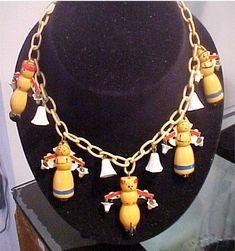 Martha Sleeper figural Bakelite and Cellulose Acetate necklace