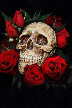 Floral skull 3