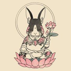 Honey Bunny, Animal Drawings, Lotus, Rabbit, Ink, Animals, Illustrations, Animales, Animaux