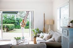 See how this red-brick home on Sydney's Northern Beaches underwent an extension and renovation to become a large family beach house. Beach Shack, Red Bricks, Home Reno, Pool Houses, Beach House Decor, New Homes, Lounge, House Design, Living Room