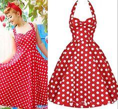 Lionstill Women's 1950s Vintage Polka Dot Rockabilly Swing Dresses