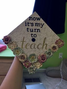 Graduation cap for an education major #English #education #graduation
