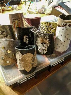 Leather Scraps, Zeppelin, Mugs, Stars, Tableware, Handmade, Collection, Dinnerware, Hand Made