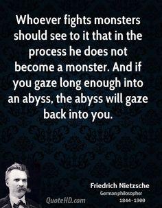 This is kind of a good quote for depression..  Friedrich Nietzsche Quotes | QuoteHD