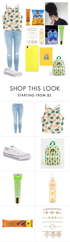 """""""Want to be where the sun shines"""" by melanin-flower ❤ liked on Polyvore featuring J Brand, WithChic, Converse, Dickies, Bodycology and Charlotte Russe"""