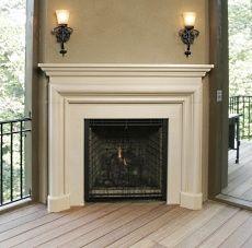 I like this non-stone fireplace.  Elegant