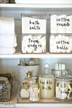 42 super creative DIY bathroom storage projects to decorate your bathroom on a . - 42 Super Creative DIY Bathroom Storage Projects to Organize Your Bathroom on a Budget – New Decor - Bathroom Organisation, Organization Hacks, Kitchen Organization, Organized Bathroom, Kitchen Storage, Diy Kitchen, Organised Home, Teen Closet Organization, Pantry Organisation