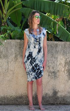 Draped Asymetric TIE DIE Summer Strech DRESS Top by NikiZaimi, $80.00