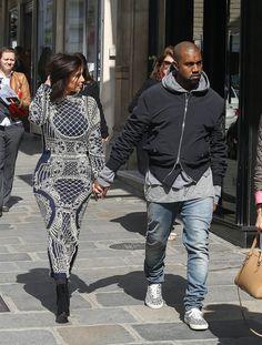 Kanye West Wears Fear of God LA Bomber Jacket and Saint Laurent Leopard Sneakers