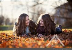 Cute fall senior pictures with your best friend! #arisingimages #michigan #fall…