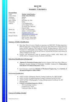 Quality assurance technologist cover letter