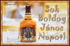 Beer Bottle, Whiskey Bottle, Happy Name Day, Scotch Whisky, Happy Birthday, Humor, Drinks, Foods, Saint Name Day