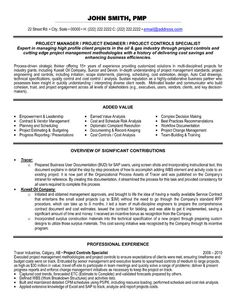 click here to download this project controls specialist resume template httpwww - Electrical Project Engineer Sample Resume