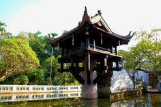 Hanoi's One Pillar Pagoda, a historic Buddhist temple.