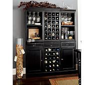 A home bar is one of the most fun places in the house, and it's a great area to add a pop of color—whether in the cabinetry, stools, walls or art. Check out 33 custom home bar design ideas. All styles, sizes and materials. These are awesome. Wine Hutch, Bar Hutch, Armoire Bar, Home Bar Designs, Drinks Cabinet, Liquor Cabinet, Bar Furniture, Entry Furniture, Royal Furniture