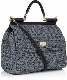 Buy Dolce & Gabbana Women's Gray Miss Sicily Classic Crochet Bag, starting at from Harrods.Shop Women's Dolce & Gabbana Briefcases and work bags on Lyst. Track over 46 Dolce & Gabbana Briefcases and work bags for stock and sale updates. Crochet Handbags, Crochet Purses, Crochet Lace, Borboleta Crochet, Kelly Bag, Work Bags, Knitted Bags, Luxury Gifts, My Bags