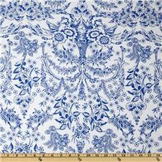 Rayon Jersey Knit Traditional Delft Blue @cheryl ng Sheeler The perfect lightweight scarf fabric!!