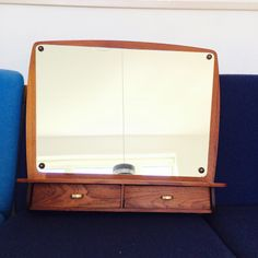 """Thanks for the kind words! ★★★★★ """"This authentic mid century mirror arrived in excellent condition. It was carefully and lovingly shipped by expert furniture and household accessory professionals. I'm thrilled with my purchase and look forward to shopping in their exclusive mid c"""