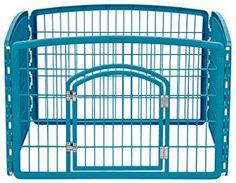 Amazon.com : IRIS 4-Panel with Door Plastic Pet Playpen : Pet Supplies