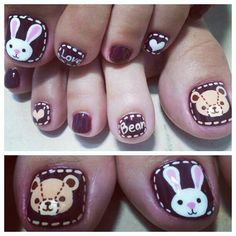 Cute & adorable nails.
