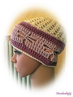 Dragonfly Spring Cloche - free crochet pattern in English and Italian by Chiara Inzani.