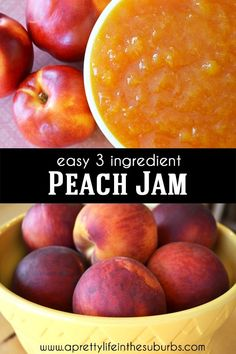 Peach Jelly Recipe Canning, Peach Jam Recipe No Pectin, Peach Preserves Recipe, Canning Peaches, Freezer Jam Recipes, Jelly Recipes, Canning Recipes, Fruit Recipes, Freezer Meals