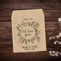Wildflower Seed Packets Garden Wedding Wedding by MinikinGifts