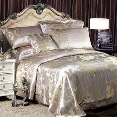 8 Piece Luxury Silk Bedding Set - Brentwood $1,199.00 See more click here : http://www.ellesilk.com/