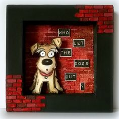 Redanne's shadow box creation - Who Let the Dogs Out?…