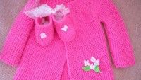Knit Cardigan Models For Baby Girl – Knitting And We Most Beautiful Models, Crochet Doilies, Knit Cardigan, Going Out, Infant, Take That, Knitting, Children, Cute