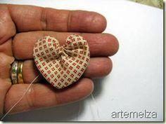 Template to make yo heart - step by step   Template for heart fabric yo-yo #YoYo #SuffolkPuffs