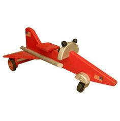 Kids will love playing with this fun, large wooden toy plane, dreaming of flying off to great adventures. This wooden toy plane features all wood construction using Baltic Birch laminate and other sol