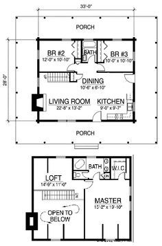 Country-Classic-Cabin-w-Loft-24x40-Plans-Package ...