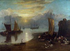 "Joseph Mallord William Turner - ""The Sun Rising Through Vapour"" [before 1807]"