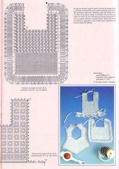 Tejer Crochet: Bebé Baberos en ganchillo