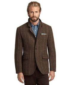 Plaid Hybrid Jacket. Win Brooks Brothers discount Gift Cards on http://www.cityhits.com and use them towards plaid jackets like this one. #mens #fashion #fall2013