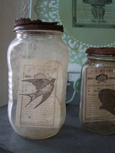 A great way to reuse old mason jars or any jar for that matter.