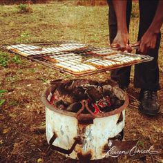 this is how you make toast in the bush.... looks good to me!