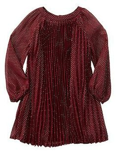 I will NEVER pay $98 for this, but I LOVE it...time to watch for clearance...maybe for next Christmas! Pleated dot dress   Gap