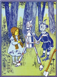 "Another picture by W. W. Denslow from the first edition of L. Frank Baum's ""The Wonderful Wizard of Oz"". Great stuff!"