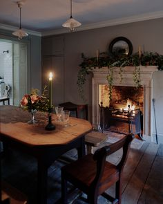 We are within the midst of Christmas and we were thrilled to be asked by the Saturday Telegraph how we create a county-house Christmas in the city. Cosy Dining Room, Dining Room Decor, Decor, Dining, Farmhouse Dining Room, Cottage Dining Rooms, Rustic Dining Table, Country House Decor, Home Decor