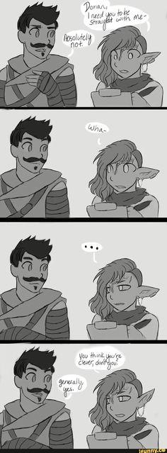 Dorian and Lavellan