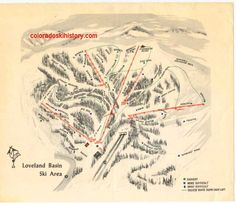 Loveland Ski Area - map used when I learned to ski there http://www.coloradoskihistory.com