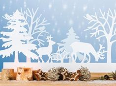 Bastelideen: Fensterbilder zu Weihnachten - Фоны рождественские с ПК - Weihnachten Noel Christmas, Christmas Quotes, Little Christmas, Outdoor Christmas, Winter Christmas, Xmas, Christmas Express, Navidad Diy, Paper Crafts