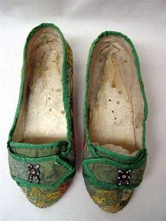 1770 shoes, vintage shoes, zapatos antiguos, moda vintage