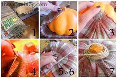 A plaid, flannel pumpkin...? Why Not? Tutorial